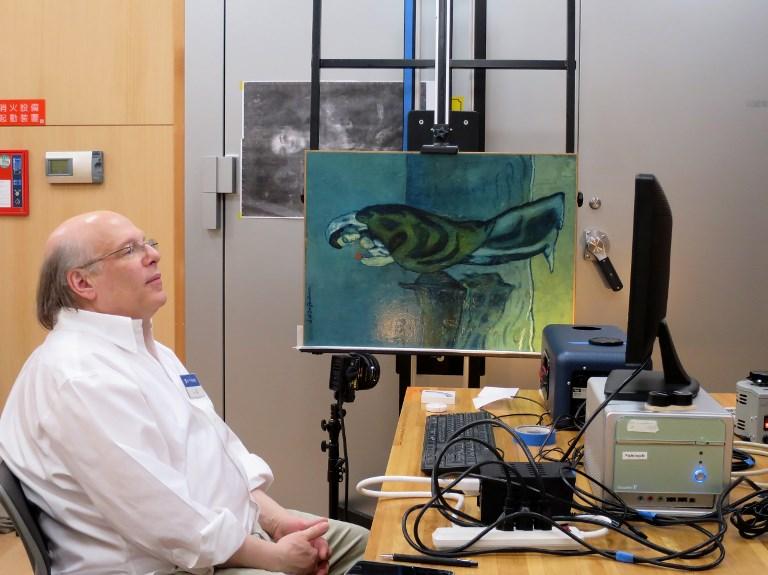 """นักวิทยาศาสตร์ใช้เทคโนโลยีถ่ายภาพรังสีอินฟราเรดตรวจภาพของ """"ปาโบล ปิกัสโซ""""  (Handout / Pola Museum of Art / AFP)"""