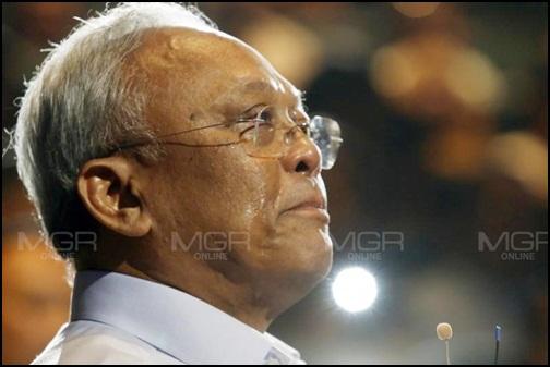 นายสุเทพ เทือกสุบรรณ ประธานมูลนิธิมวลมหาประชาชนเพื่อการปฏิรูปประเทศไทย