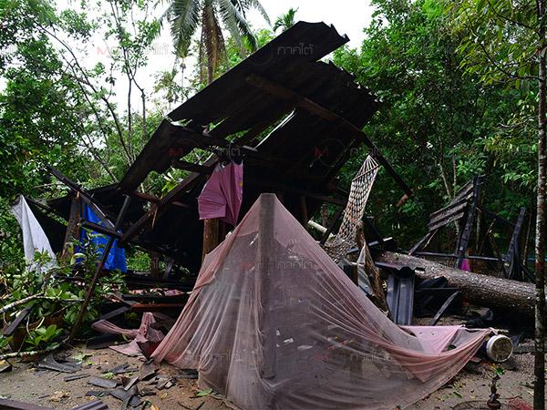 พัทลุงเกิดเหตุลมกระโชกแรงชาวบ้านเดือดร้อน 5 หมู่บ้านรวมกว่า 50 หลังคาเรือน