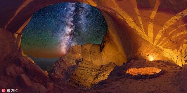 ถ้ำโบราณของชาว Anasazi (อารยธรรมก่อนยุคโคลัมเบียน) ซึ่งปัจจุบันคือภูมิภาคทางตะวันตกเฉียงใต้ของสหรัฐอเมริกา (ภาพโดย Wayne Pinkston, 2015)