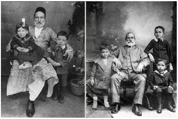 ครอบครัวชาวยิวในกัลกัตตาช่วงรอบต่อระหว่าง ค.ศ. ๑๘๙๐และ ค.ศ.๑๙๐๐ (ภาพจาก  Wikimedia Common)