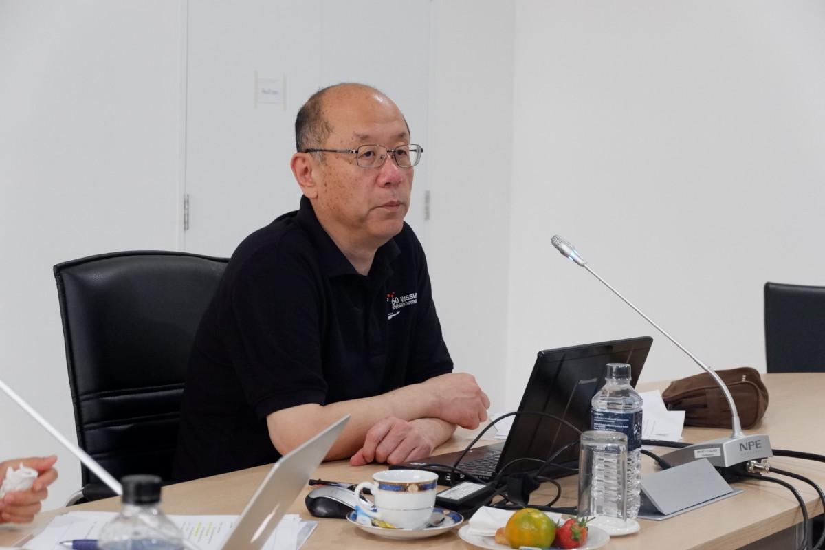 ศาสตราจารย์ฮิเดยูกิ โคบายาชิ รองผู้อำนวยการหอดูดาวแห่งชาติญี่ปุ่น เป็นประธานกรรมการการประชุมหารือของคณะผู้ทรงคุณวุฒิ วันที่ 16 มีนาคม 2561 จ.เชียงใหม่