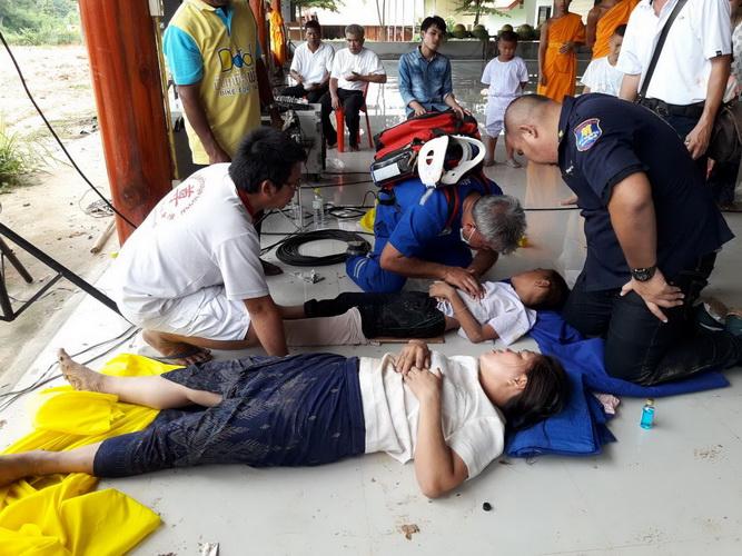 รับวันพระใหญ่!พื้นโบสถ์วัดเครือข่ายธรรมกายที่อุบลฯทรุดชาวบ้านเจ็บ 23 คน