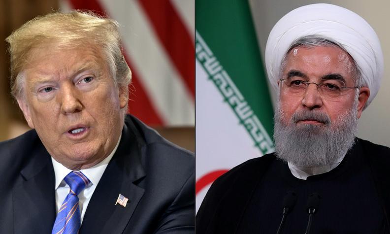 ประธานาธิบดี โดนัลด์ ทรัมป์ แห่งสหรัฐฯ และประธานาธิบดี ฮัสซัน รูฮานี แห่งอิหร่าน