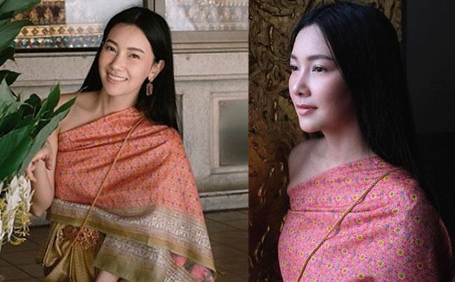 """งามแท้แม่หญิง """"นุ่น วรนุช"""" สวยสง่ากับชุดไทยทำบุญวันเข้าพรรษา"""