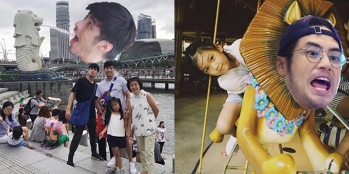 """ฮาทุกรูป! เมื่อ """"บอย ปกรณ์"""" อดไปสิงคโปร์กับครอบครัว งานตัดต่อจึงเกิดขึ้น"""
