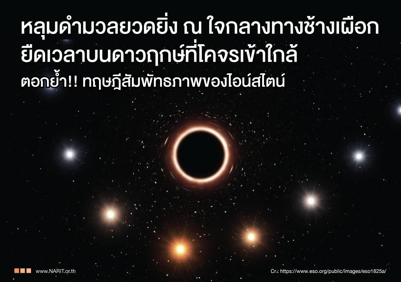 """พบหลุมดำใจกลาง """"ทางช้างเผือก"""" ยืดเวลาดาวฤกษ์ที่เข้าใกล้"""