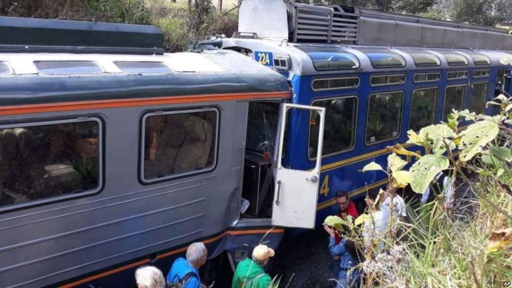 รถไฟชนกันใกล้มาชูปิกชู นักท่องเที่ยวต่างชาติบาดเจ็บหลายราย