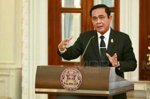 """""""บิ๊กตู่""""ย้ำดูแลคนไทยทุกคนไม่บังคับให้รัก-แก้ปัญหาเพื่อรัฐบาลหน้า"""