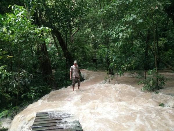ประกาศปิดน้ำตกธารโบกขรณี จ.กระบี่ ชั่วคราว พบปริมาณน้ำล้นทางเดิน หวั่นเกิดอันตราย