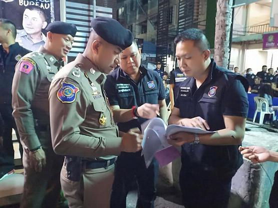 ปิดล้อมตรวจค้นชาวต่างชาติ จับกุมผู้อยู่ในไทยโดยผิดกฎหมายได้ 72 ราย