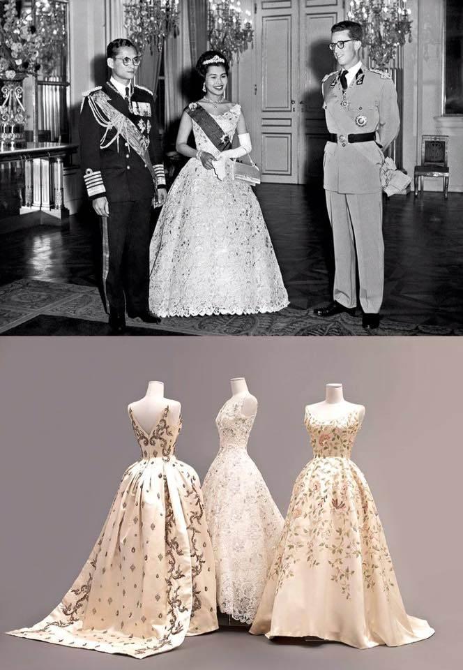 ฉลองพระองค์สมเด็จพระราชินี ในรัชกาลที่ 9 สวยสดงดงามเคียงคู่บรมราชจักรีวงศ์