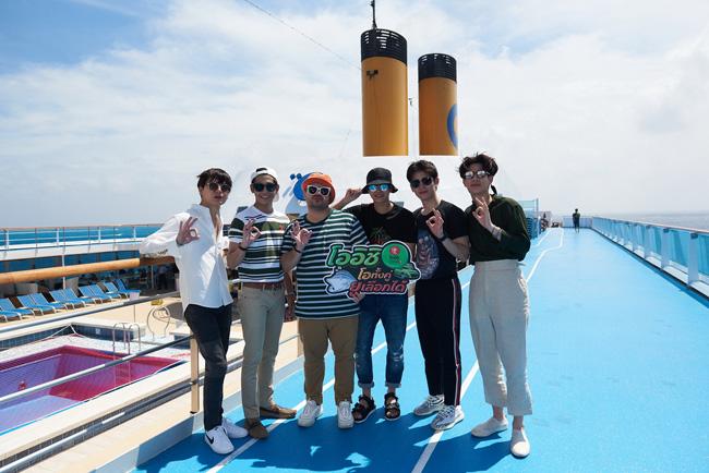 """ทริปซัมเมอร์สุดฟิน """"เป๊ก-โอ๊ต"""" นำทีมล่องเรือสำราญสุดหรู ตะลุยญี่ปุ่น-เกาหลี ในแคมเปญ """"โออิชิ โอทั้งคู่ ยูเลือกได้"""""""