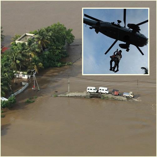 "In Pics: ข่าวดี ""ฝนเริ่มซา"" ในรัฐเกรละ แต่หวั่นเกิดโรคระบาดในเตนต์ผู้ประสบภัยแทน ยอดเสียชีวิตพุ่ง 357 ราย"