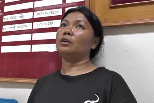 นางรุ้งกาน  จูสม อายุ 34 ปี แม่น้องเต้