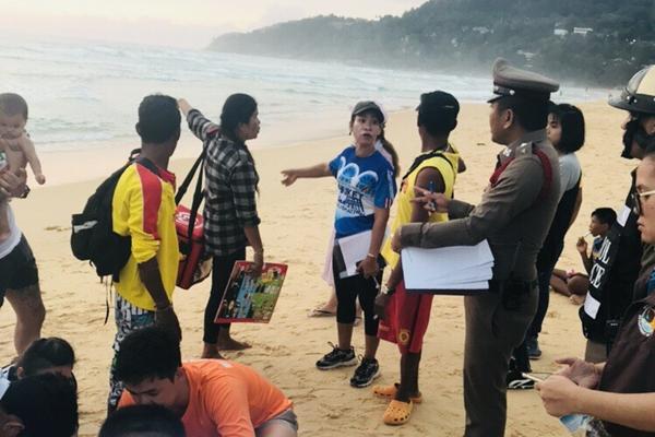 นักท่องเที่ยวจมน้ำเกิดรายวันล่าสุดชาวอินโดนีเซียสูญหายที่หาดกะรน จ.ภูเก็ต