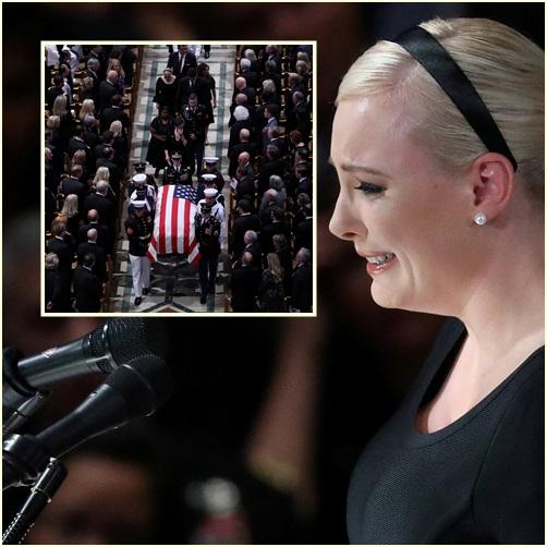 """In Pics: แชร์กันว่อนหลัง """"ลูกสาวสว.แม็คเคน"""" โต้ทรัมป์กลางพิธี """"อเมริกาไม่ต้องยิ่งใหญ่อีกครั้ง อเมริกายิ่งใหญ่เสมอ"""" ฮือฮา! แม่อายุ 106 ปีเข้าร่วม"""