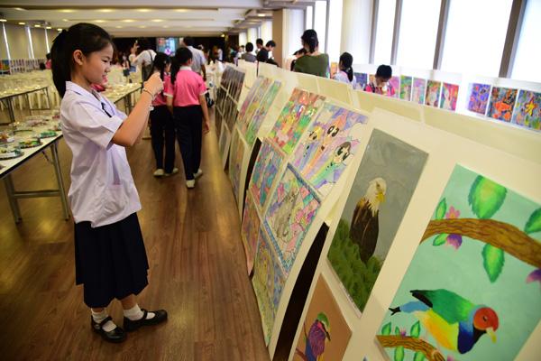 สาธิตจุฬาฯ จัดแสดงผลงานนักเรียนโครงการ Art Learning พร้อม 4 ศิลปินเด็กชื่อดังโชว์วาดภาพสด
