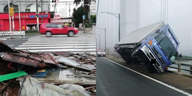 ประมวลภาพเหตุการณ์ ไต้ฝุ่นเชบี (Jebi) พัดถล่มญี่ปุ่น แรงสูงสุดในรอบ 25 ปี