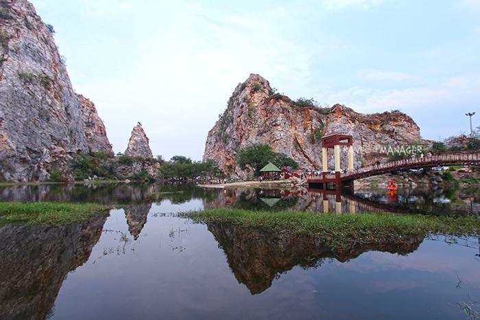 เขางู จากอดีตเหมืองหิน วันนี้ได้พัฒนาสู่แหล่งท่องเที่ยวอันสวยงาม