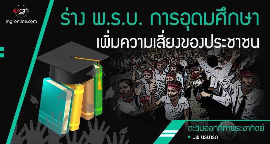 ร่าง พ.ร.บ.การอุดมศึกษา เพิ่มความเสี่ยงของประชาชน
