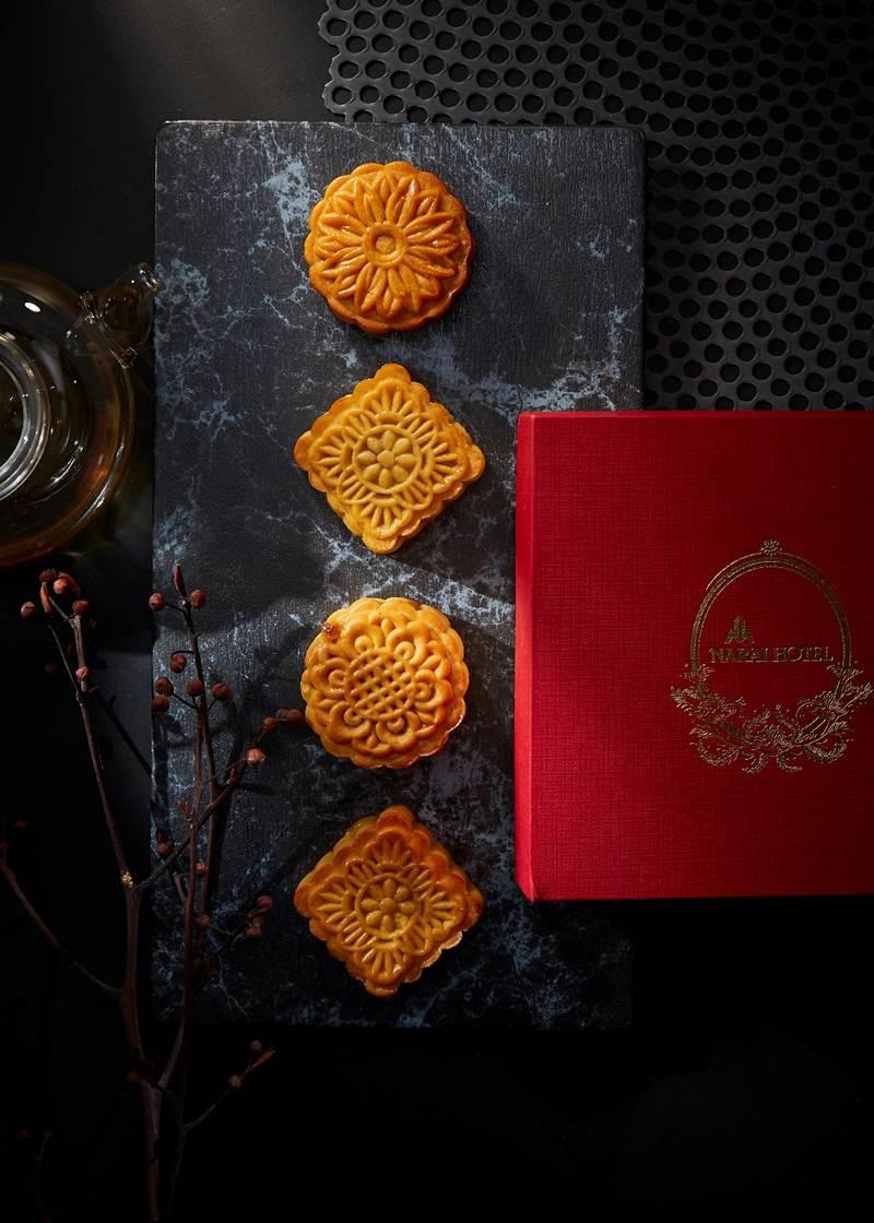 ขนมไหว้พระจันทร์ไส้มะม่วงน้ำปลาหวาน