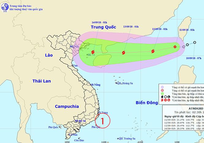 ตั้งเค้ามา 15 กันยาฯรับมือพายุลูกใหญ่--ไต้ฝุ่นเริ่มบ่ายหน้าทะเลจีนใต้