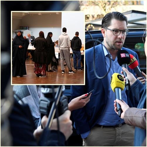 "In Pics: ผู้อพยพเป็นเหตุ ""พรรคการเมืองขวาจัดสวีเดน"" ได้ที่นั่งเพิ่ม ใหญ่เป็นอันดับ 3 หลังเลือกตั้งวันอาทิตย์"