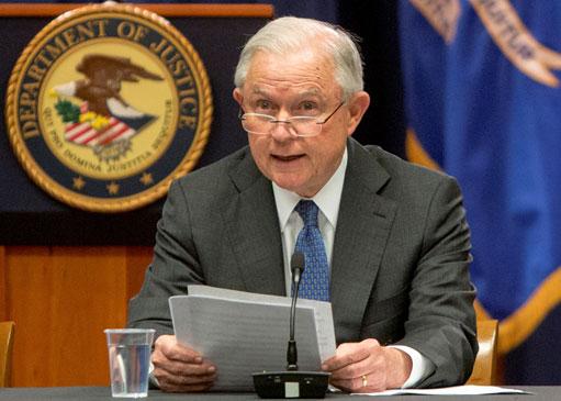 <b>นาย Jeff Sessions อัยการสูงสุดสหรัฐฯ</b>