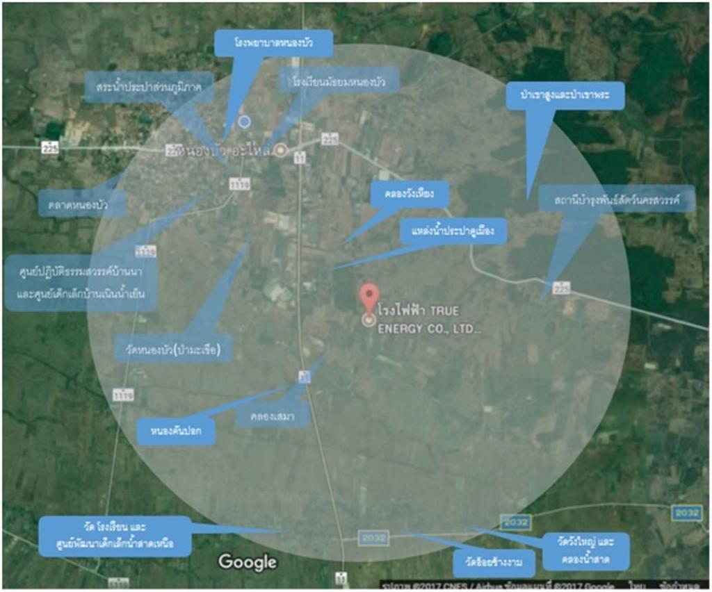 กางผังพิสูจนที่ตั้งโรงไฟฟ้าขยะปากน้ำโพ พบอยู่บนที่สูงเหนือแหล่งน้ำดิบชุมชน
