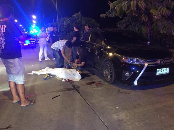 หนุ่มเคราะห์ร้าย กำลังเปิดประตูเข้ารถถูกขี้เมาขับเก๋งชนเสียชีวิต