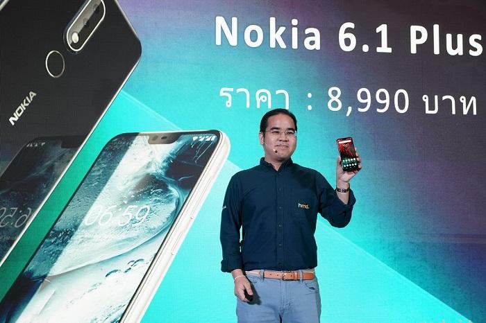 Nokia 6.1 Plus จอใหญ่ไร้ขอบรุ่นแรกบุกไทย