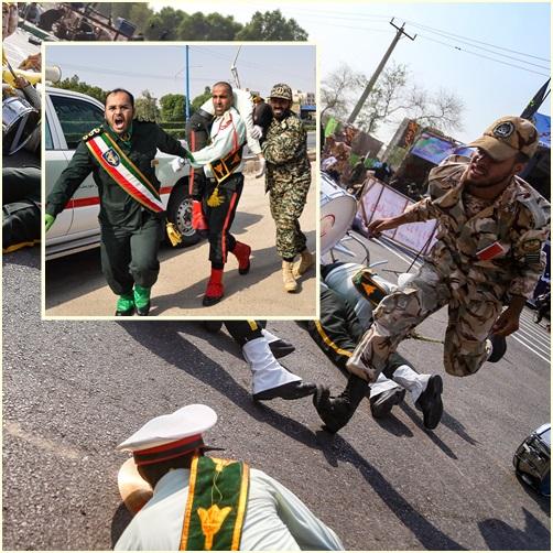 คลิปรุนแรง:  อิหร่านเรียก 3 ทูตชาติตะวันตกพบด่วน หลังพิธีสวนสนามรำลึกกองทัพถูกโจมตี  ยอดดับพุ่ง 29 ราย บาดเจ็บ 70
