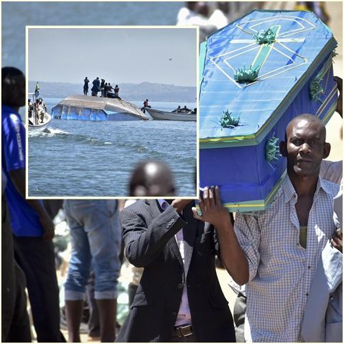 """In Pics: ยอดดับ """"เรือโดยสารแทนซาเนีย"""" สุดขนลุกพุ่ง 218 ราย ส่วนครอบครัวเตรียมพิธีฝังวันนี้"""