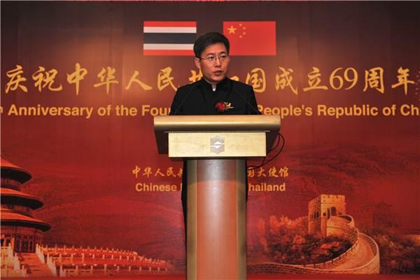 """เอกอัครราชทูตจีนฯชี้ """"หนึ่งแถบ หนึ่งเส้นทาง"""" จะช่วยสร้าง""""ไทยแลนด์ 4.0"""""""