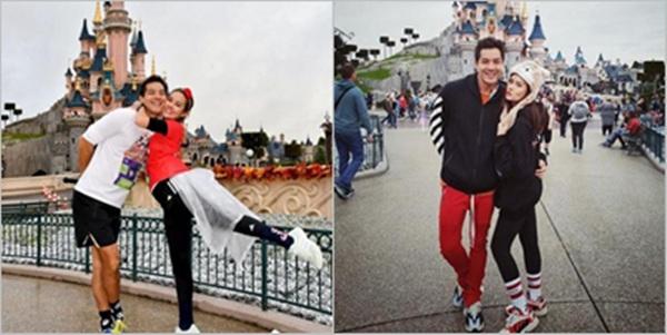 """นึกว่าขอแต่งงาน!? """"หญิง รฐา"""" อวดภาพสวีตหวาน """"ตุลย์"""" ที่สวนสนุกดิสนีย์แลนด์"""