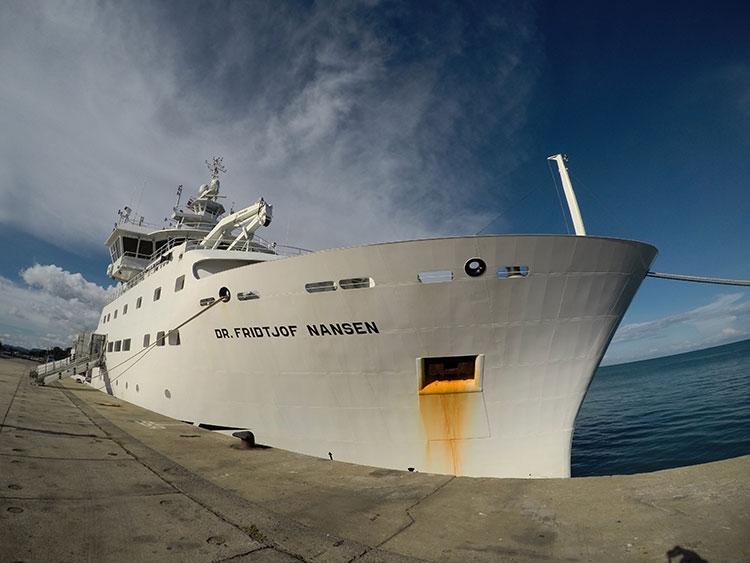 เรือยูเอ็นเทียบท่าภูเก็ต เตรียมสำรวจทรัพยากรและมลภาวะท้องทะเลไทย