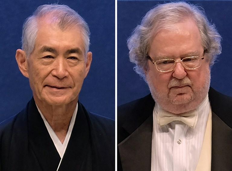 ทาสุกุ ฮอนโจ (Tasuku Honjo)  และ เจมส์ พี อัลลิสัน (James P. Allison)  - Sam YEH / AFP