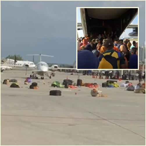 """In Pics&Clip:  ชาวอิเหนานับพันแตกตื่น """"บุกสนามบิน"""" !! หวังขึ้นเครื่องทหารหนีตาย -กู้ภัยพบ 34 ศพนักเรียนค่ายศึกษาคัมภีร์ไบเบิลถูกฝังทั้งเป็นใน """"โบสถ์ปาลู"""" เช้านี้"""