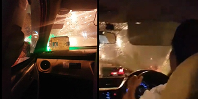 แท็กซี่เทกลางสายฝนกระหน่ำ อ้างต้องไปรับลูกค้าอื่นที่เหมาจ่าย (ชมคลิป)