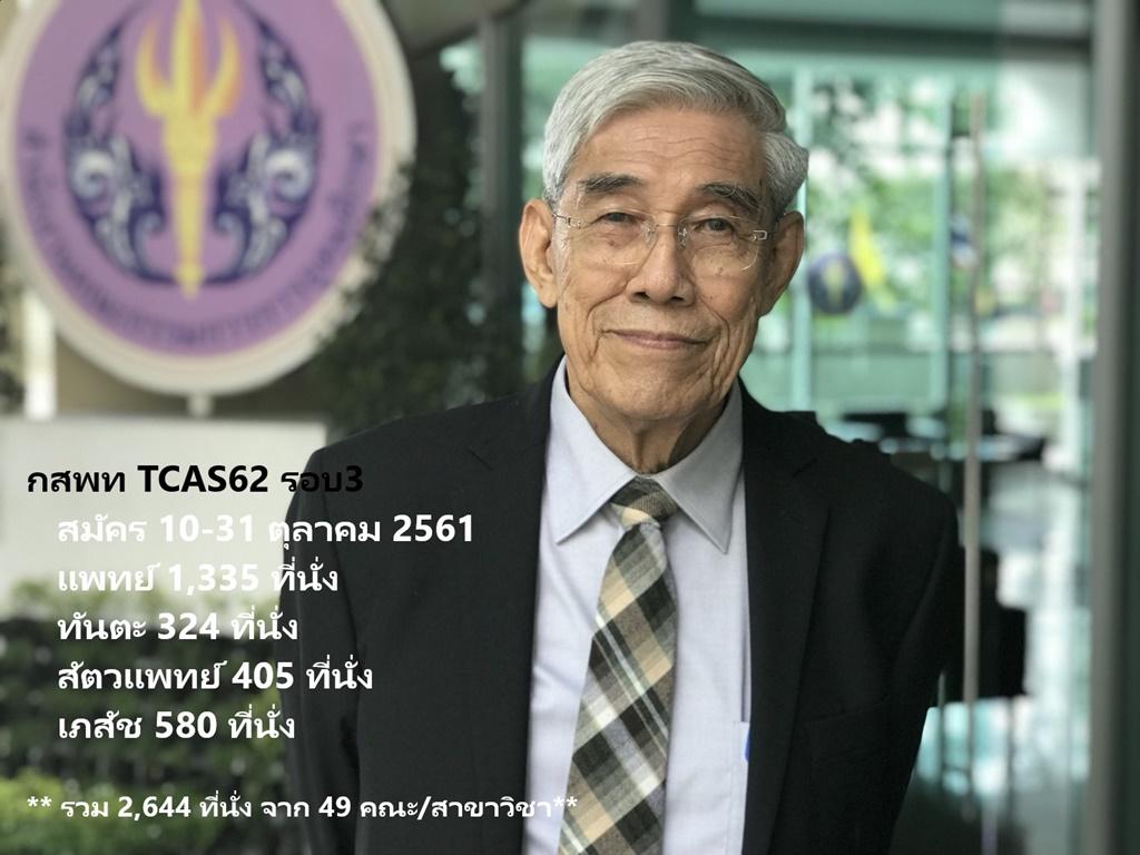 กสพท เปิดรับสมัคร 10-31 ต.ค.นี้พร้อมเผย 2,644 ที่นั่งใน 49 คณะ