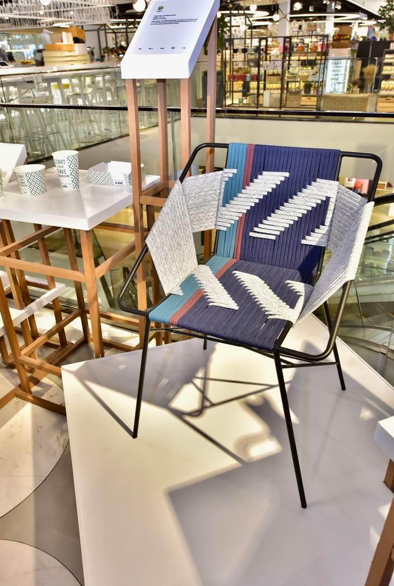 เก้าอี้ทำจากพลาสติกรีไซเคิล