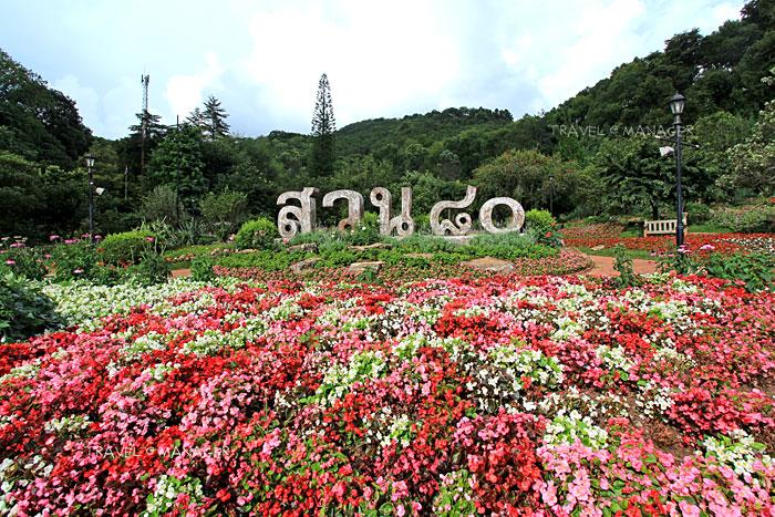 สวนแปดสิบ ภายในสถานีเกษตรหลวงอ่างขาง โครงการหลวงแห่งแรกของไทย