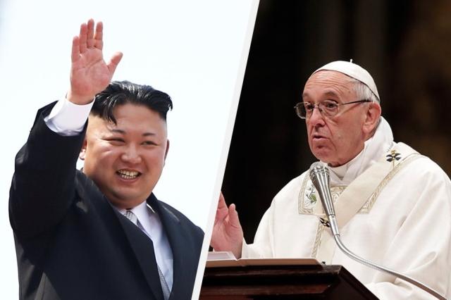 """เกาหลีใต้เผย ผู้นำโสมแดงออกปากเชิญ """"โป๊ปฟรานซิส"""" เยือนเปียงยาง"""