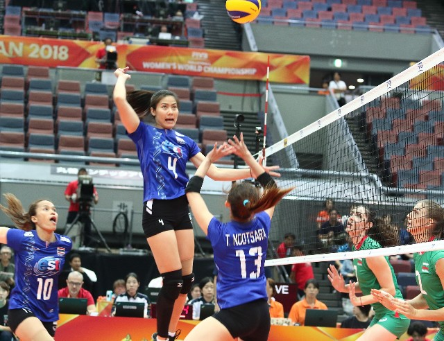 ลูกยางสาวไทย พลิกพ่าย บัลแกเรีย 2-3 ศึกชิงแชมป์โลก