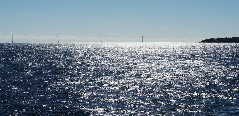 กังหันลมในทะเลไกลๆ (DON EMMERT / AFP)