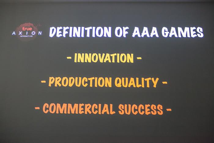 นิยามของเกม AAA ประกอบด้วย นวัตกรรมที่สร้างสรรค์ กราฟิกและเสียงระดับคุณภาพ และการตลาดที่ยอดเยี่ยม