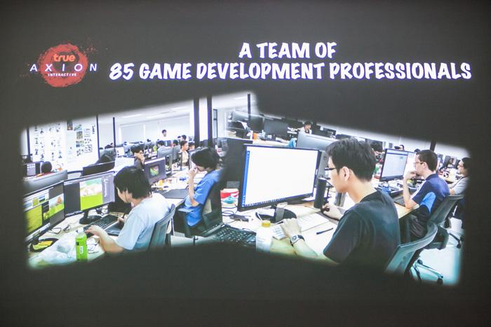 ทรู แอกซิออน ปัจจุบันมีนักพัฒนาเกมมืออาชีพ 85 คน