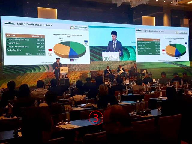 โสก พุฒิวุฒิ เขยเล็ก ฮุนเซน (บุตรชายโสก อาน) ประธานสมาคมข้าวกัมพูชา. -- Cambodia Rice Federation.