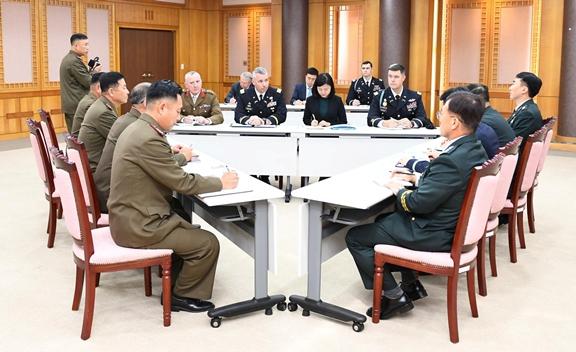 """In Pics :""""เกาหลีเหนือ- เกาหลีใต้"""" หารือ 3  ฝ่ายร่วมกองบัญชาการสหประชาชาติ ลดการควบคุมทางทหารเขตDMZ"""